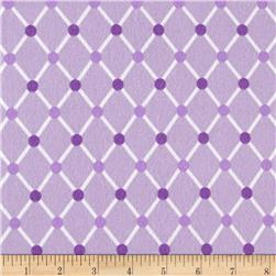 Kaufman Cozy Cotton Flannel Trellis Lavender