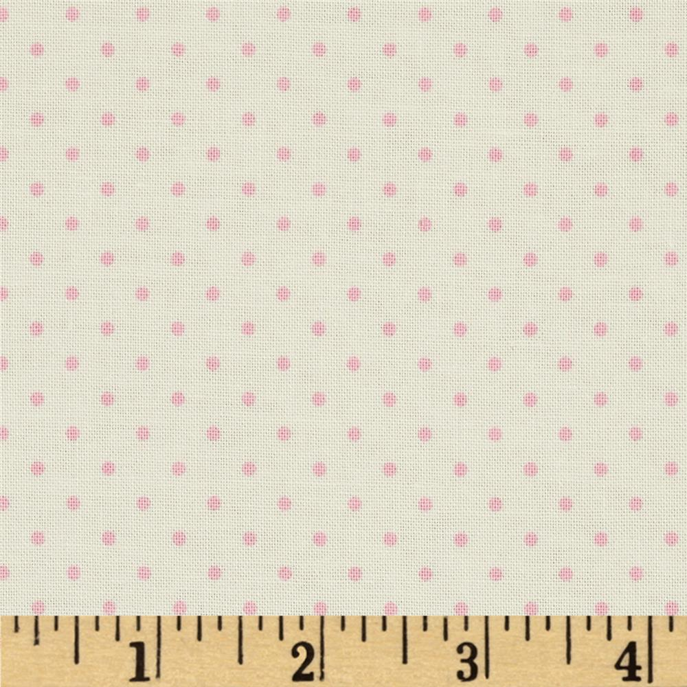 Riley Blake La Creme Basics Swiss Dots Cream/Baby Pink