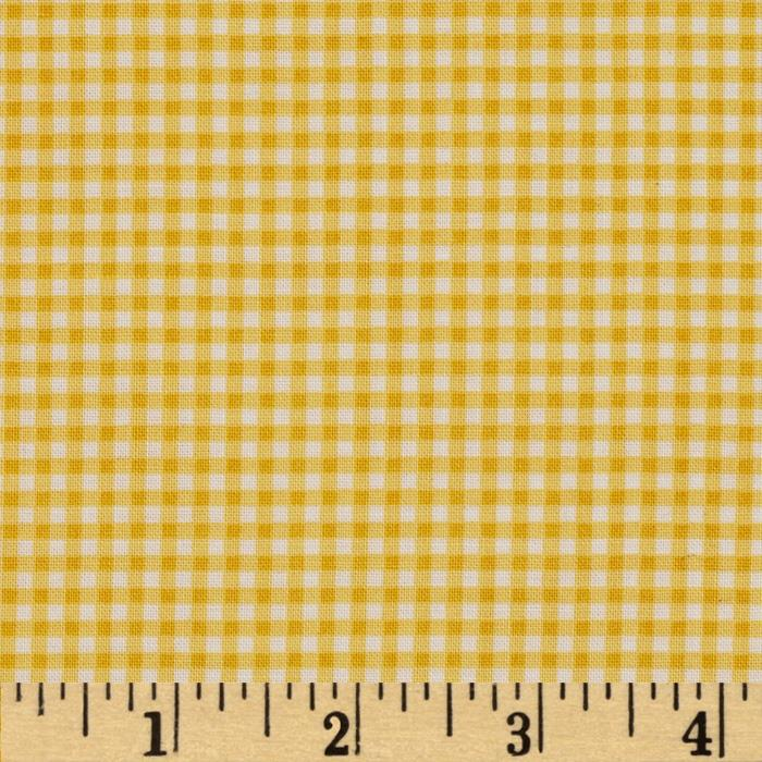 Retro Bake Gingham Yellow