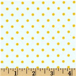 Robert Kaufman Cozy Cotton Flannel Small Dot Sunrise