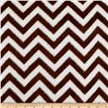 Fleece Chevron Brown/White