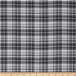 Yarn Dyed Plaid Shirting Gray/White