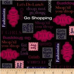 It Girls Baby Shop Talk Black