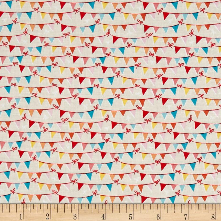 Riley Blake Tree Party Banner Cream