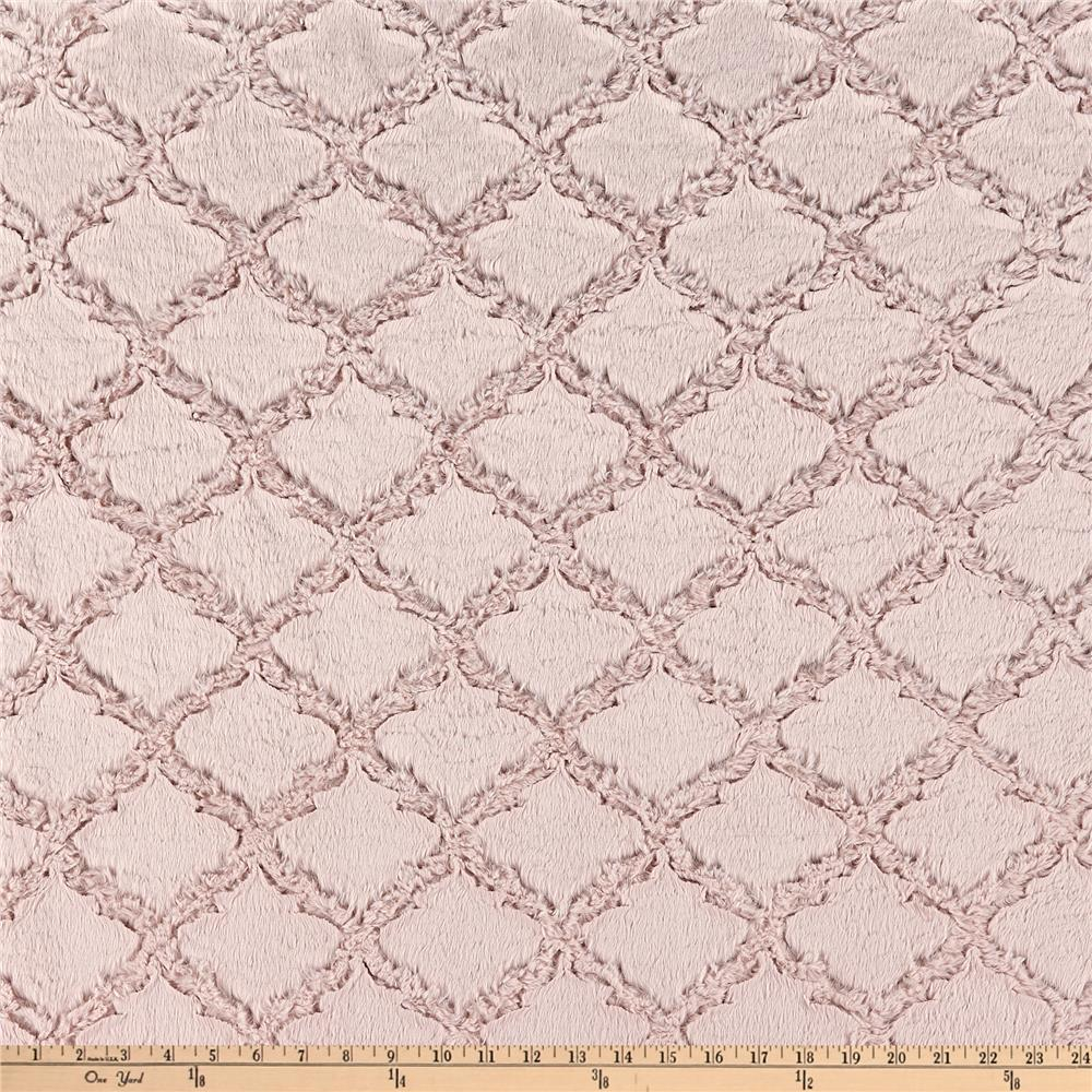 Shannon Minky Lattice Soft Cuddle Rose Water