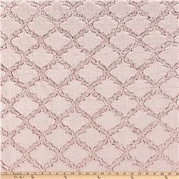 Minky Lattice Soft Cuddle Rose Water