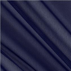 Spandex Stretch Illusion Shaper Mesh Navy Fabric