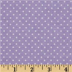 Riley Blake Swiss Dots Lavendar/White