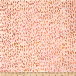 Batavian Batiks Falling Leaves Sweet Peach