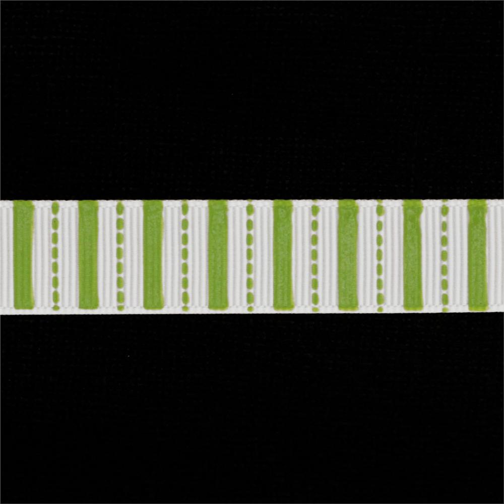 "Riley Blake 5/8"" Grosgrain Ribbon Stripes Lime"