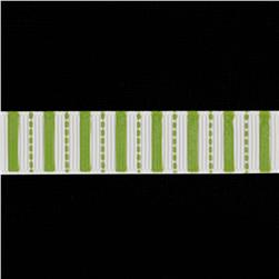 Riley Blake 5/8'' Grosgrain Ribbon Stripes Lime