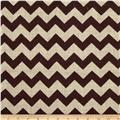 Printed Burlap Chevron Wine
