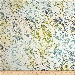 Timeless Treasures Tonga Batik Citrus Mint Blooming Mint
