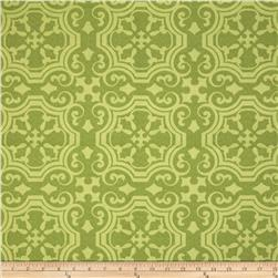 Tempo Indoor/Outdoor Medallion Scroll Green Fabric