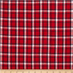 Hudson Bay Madras Plaid Red/Navy/Khaki