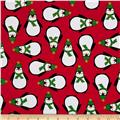Kaufman Jingle 4 Penguins Red