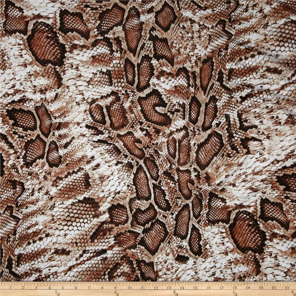Rayon Jersey Knit Snake Beige/Rust/Brown