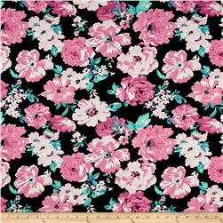 Ponte De Roma Floral Dusty Rose/Black