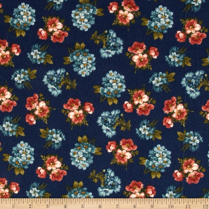 Kensington Flannel Small Floral Navy