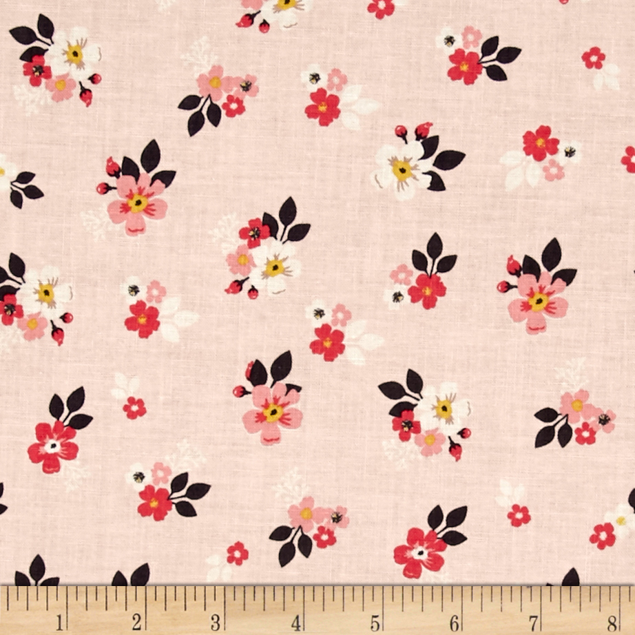 1930s Fashion Colors, Clothing & Fabric Riley Blake Vintage Daydream Floral Pink Fabric $9.95 AT vintagedancer.com