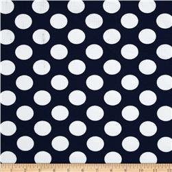 Paola Pique Knit Large Dots Navy/Ivory