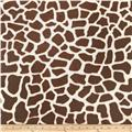 Minky Cuddle Spa Giraffe Print Brown/Cream