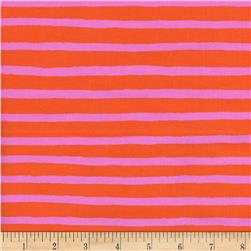 Cotton + Steel Rifle Paper Co. Wonderland Cheshire Stripe Red