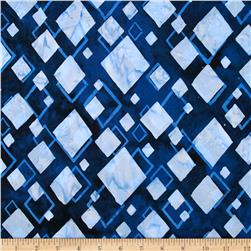 Bali Batiks Diamonds Navy