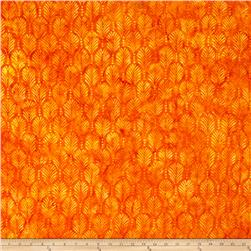 Wilmington Batiks Palm Texture Orange
