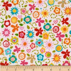 Riley Blake Summer Breeze Flannel Tossed Floral Pink
