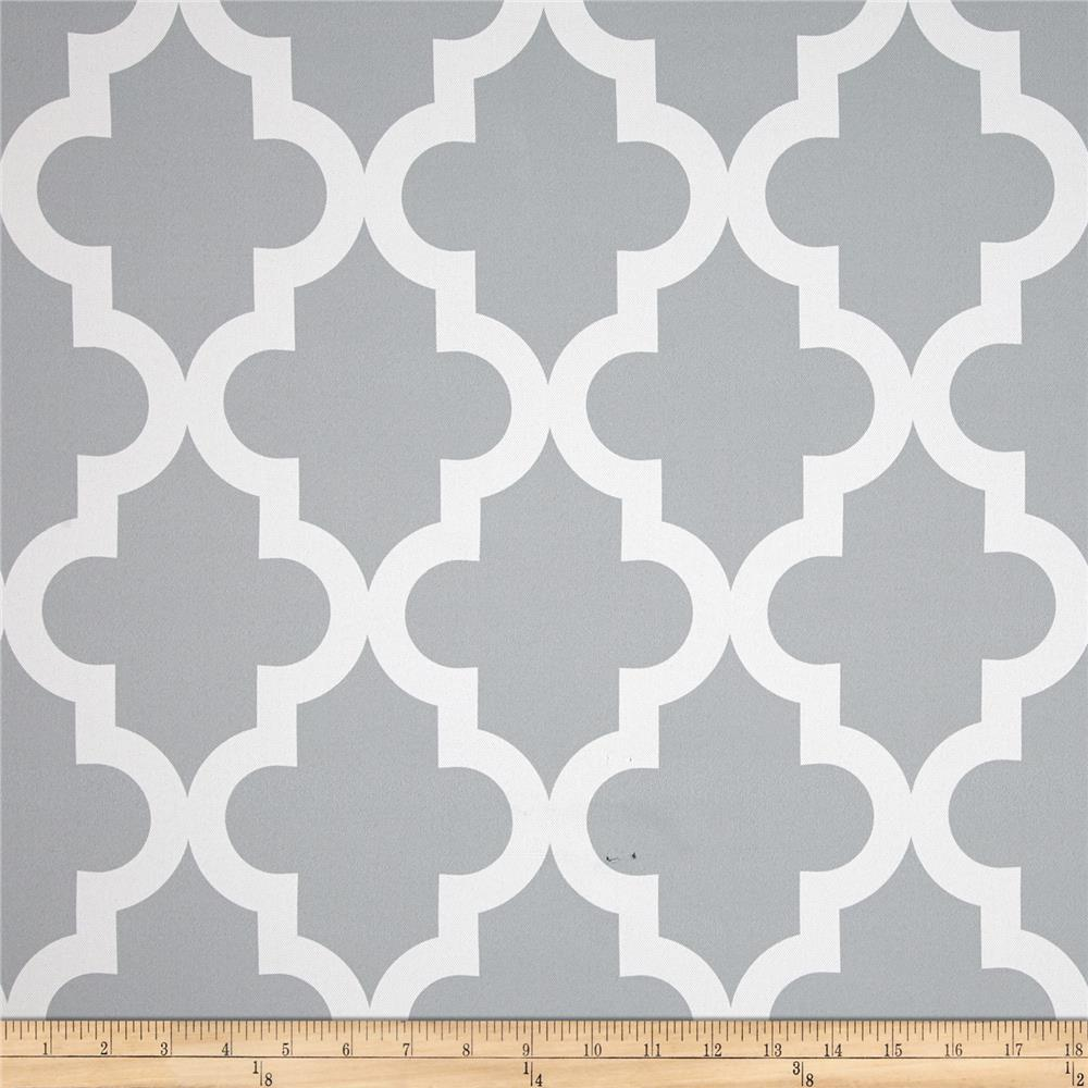 RCA Trellis Blackout Drapery Fabric Grey