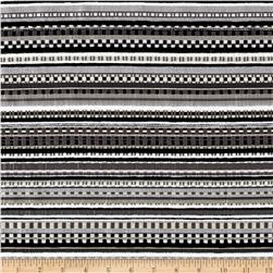 Suntastic Outdoor Chenille Jacquard O'Sunrags Black & White