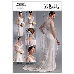 Vogue Headpieces, Tiara and Bridal Veils Pattern V8569 Size OSZ