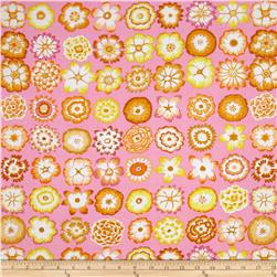 Kaffe Fassett Collective Button Flowers Pink