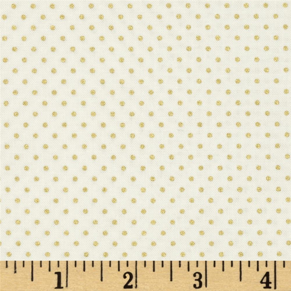 Gold Standard Metallic Pin Dot Cream/Gold