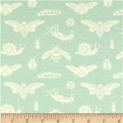 Birch Organic Acorn Trail Knit Bugs Tonal Mint