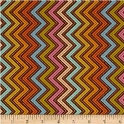 Moda Wrens & Friends Chevron Multi/Chestnut