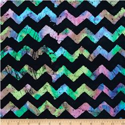 Indian Batik Chevron Black