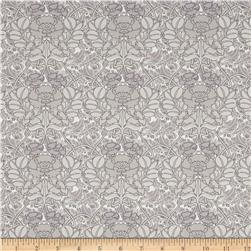 Liberty of London Tana Lawn Jugendstill Gray/Dark Mauve