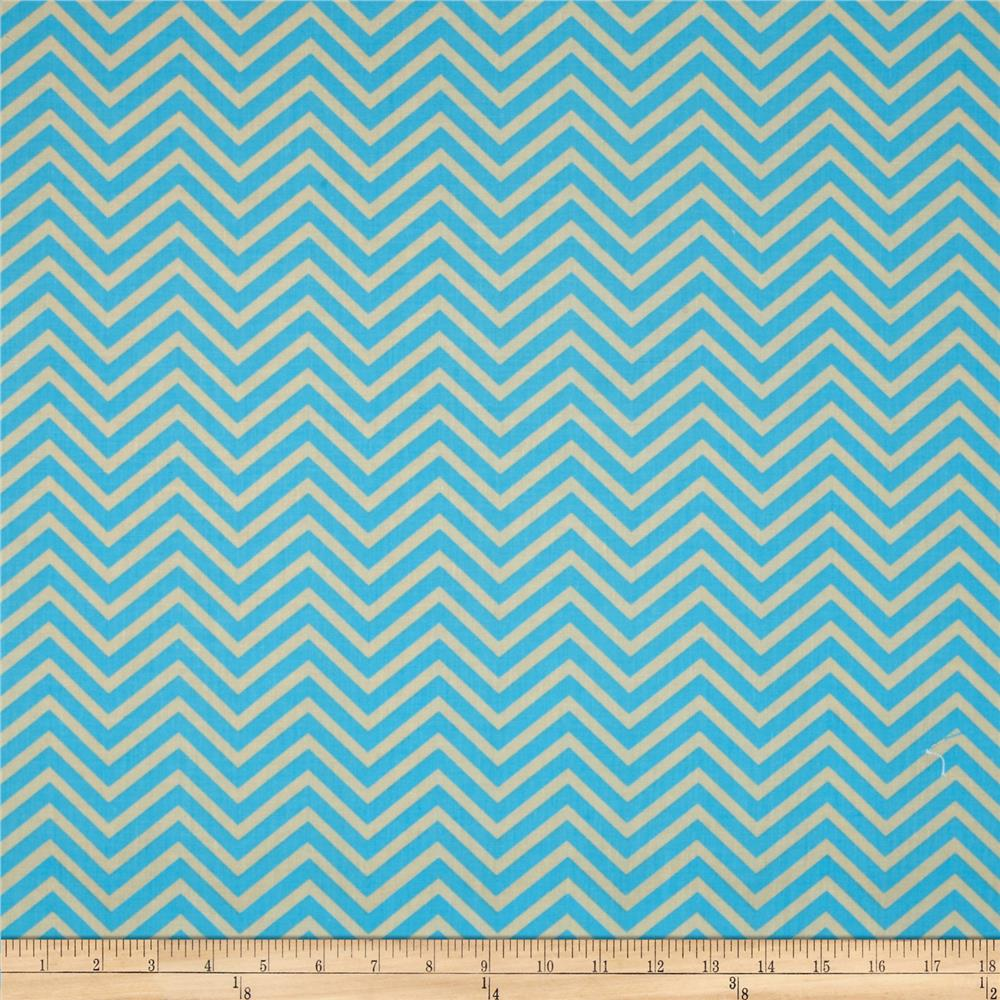 Bright Now Chevron Blue/Tan