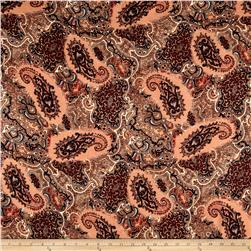 Rayon Challis Bohemian Chic  Brown