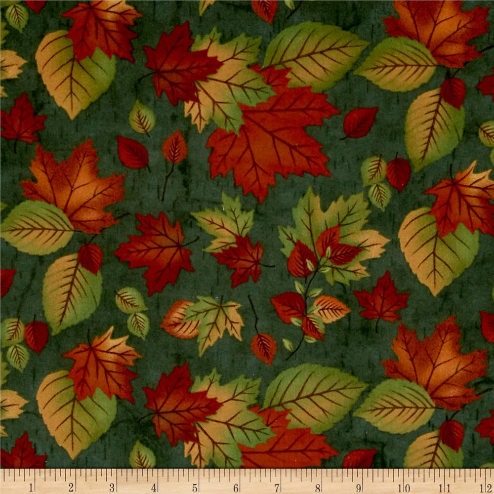 Moda Endangered Sanctuary Flannel  Autumn Leaves Forest