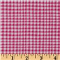 Michael Miller Doggie Play Day Gingham Play Pink