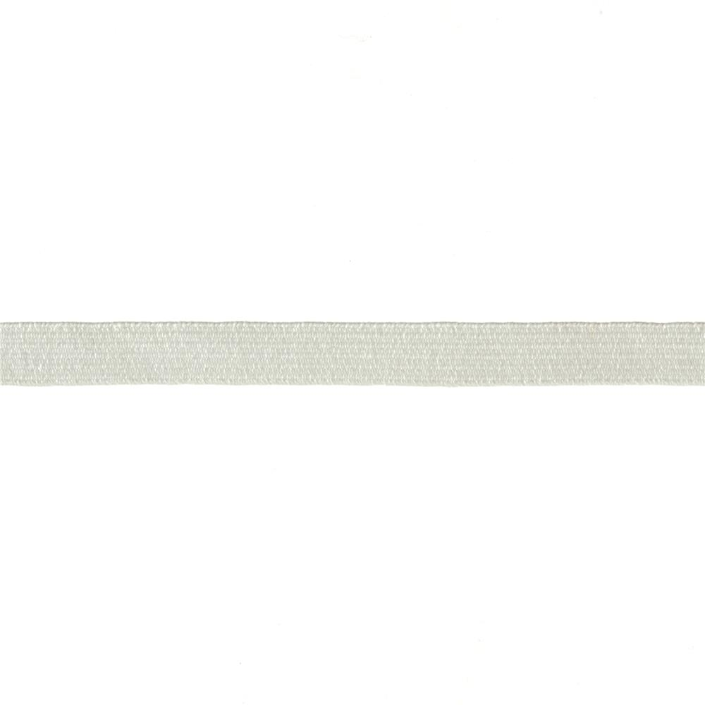 "3/8"" Braided Elastic White - By the Yard"