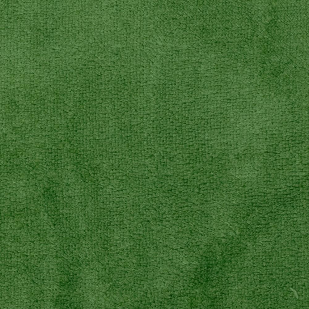 Whisper Coral Fleece Solid Lawn Green Fabric By The Yard