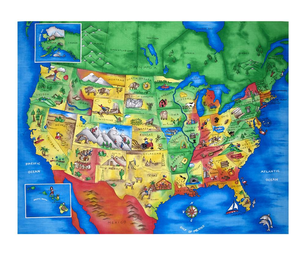 Full Map Of Usa.Map Of The United States 35 5 Panel Multi
