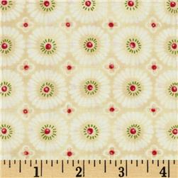 Jingle All the Way Sugar Plums Cream Fabric