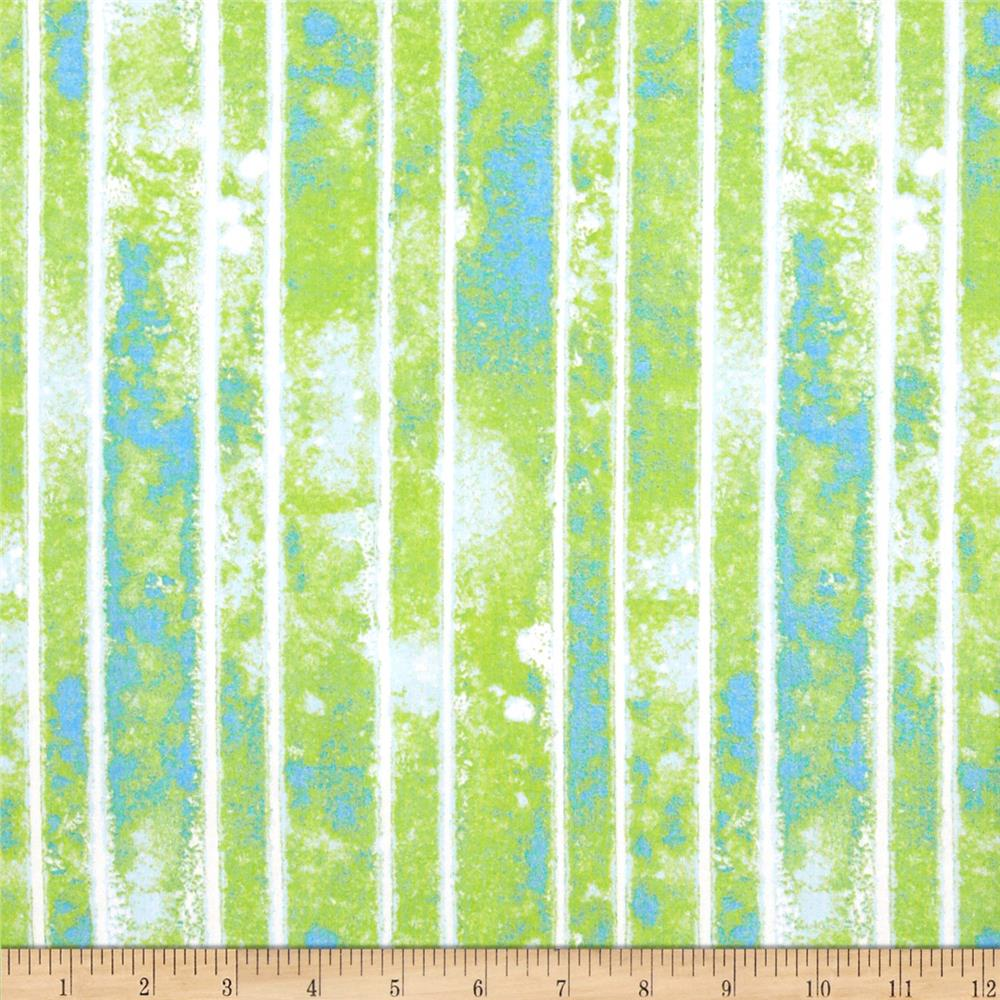 The Garden Club Stripe Texture Green/Blue