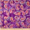 Embroidered Indian Batiks Paisley Purple