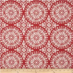 Robert Allen Suzani Strie Jacquard Red Lacquer Fabric